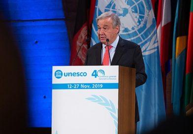 El Secretario General de las Naciones Unidas destaca el liderazgo mundial de la UNESCO en materia de educación
