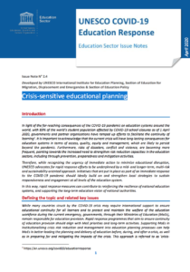 COVID-19 Education Issue Note 2.4 Planning