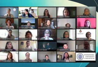 El equipo de Movilidad Virtual de Estudiantes de UNESCO IESALC comparte sus conocimientos y experiencias con el Consorcio Universitario del Hemisferio